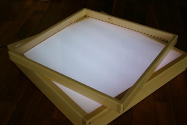 Sandaufsatz für Leuchttisch